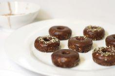 Double Cacao Dipped Mini 'Donuts' - Raw Vegan Recipe