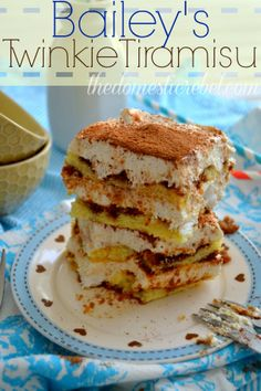 Tiramisu gets a funky update in this Bailey's Twinkie Tiramisu!  Using Twinkies instead of classic Ladyfingers and with a fun spike of Bailey's.