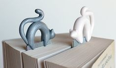 Cat bookmark pick your color polymer clay animal by NellinShoppi, €20.00
