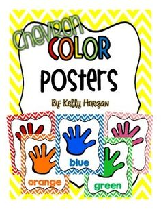 """Brighten up your classroom with my chevron color posters!  Included in this download are eleven 8""""x10.5"""" posters for the following colors:redorangeyellowgreenbluepurplepinkblackwhitegraybrownPlease be sure to rate this product to earn TpT points and *Follow Me at the top of my page for more super cute classroom essentials!Enjoy!Kelly Horgan"""