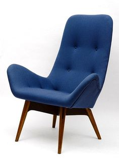 Mid century modern 1950's Attributed to Emerson Bros Pty Ltd, Melbourne, Winged Armchair