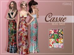 3,000+ Followers Gift - Part 2/2Cassie Maxi Skirt (Inspired by Dolce & Gabbana)A matching maxi skirt set to my Cassie Crop Top set. Perfect for the festival season! Grab them now! • standalone • custom thumbnail • comes in 12 floral swatches • edited...