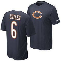Get this Chicago Bears Jay Cutler Name and Number T-Shirt at ChicagoTeamStore.com
