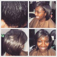 Keratin treatment and Bob hair cut