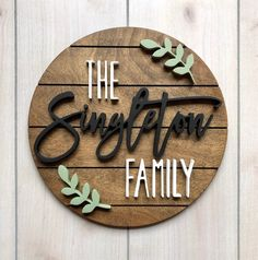 30 Shiplap with Leafy Detail Round Wood Name Sign Wood Name Sign, Wood Names, Wood Letters, Custom Wood Signs, Wooden Signs, Family Name Signs, Baby Decor, Nursery Decor, Wood Cutouts