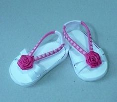 2399120d7 I want to make these shoes for my AG dolls!l Me  make em out of hair bands