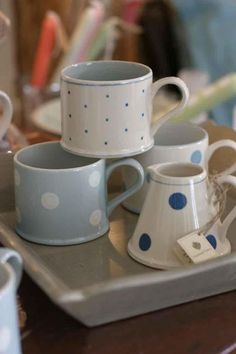 Susie Watson Cups - beautiful handmade pottery