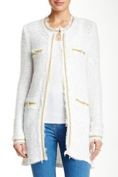 Sequin Embellished Sweater Cardigan