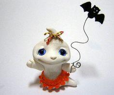 OOAK Halloween Party Ghost Girl Trollfling Troll by Trollflings, $40.00