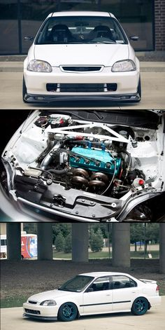 Honda Civic with a boosted D16