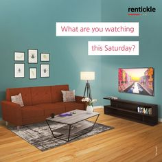 Stock up on your favourite food, get cozy on your sofa, put your feet up on your center table, and don't miss out on any of your favourite movies and TV shows. Let us know in the comment, what are you doing this Saturday?   Book Now  Thinking of Renting. Think of Rentickle! . . . #tvonrent #televisiononrent #homeappliancesonrent #sofaonrent #rentfurniture #rentickle #homeappliances #appliancesrentals #centertable #rentinglifestyle Center Table, Getting Cozy, Renting, Pune, Hyderabad, Gallery Wall, Home Appliances, Sofa, Living Room