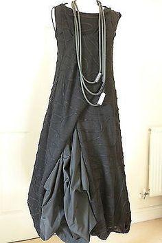Studio Art by Zuza Bart Linen Black Asymmetric Tunic/Dress, Size:L Look Fashion, Womens Fashion, Fashion Design, Diy Clothes, Clothes For Women, Sale Clothes, Mode Boho, Linen Dresses, Mode Style