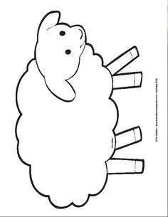Feed my sheep printout. Glue cottonballs onto the sheep