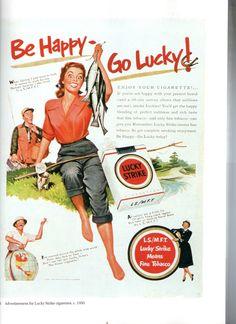 Vintage Lucky Strike add - scan