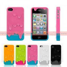 Capa Telemóvel Gelado Iphone 4 / 4S | Mobile Phone Case Ice Cream