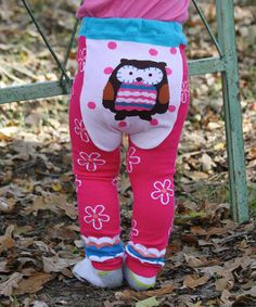 This Hot Pink Owl Leggings - Infant by Lucy Leggings is perfect! #zulilyfinds