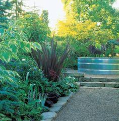 Kleiner Garten üppiges Grün Einen Blickfang Aus Gartenblumen Und Pflanzen  Erstellen