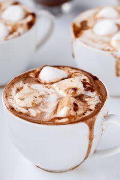 Cafe Delites | Peanut Butter Nutella Hot Chocolate | http://cafedelites.com