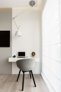 Minimalist Apartment in Gdynia by Dsgn Studio Dragon Art (11), love the floors