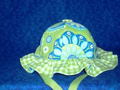 Baby Sun Hat Green Gypsy Paisley by AdorableandCute on Etsy, $18.00
