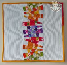 dresden quilts | It was quilted in two different ways, trimmed with a colored binding. xox