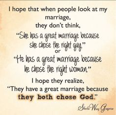 Key to a Great Marriage: Both Choosing God