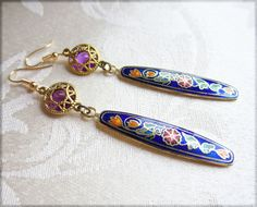 Love these earrings and these colors!! Earrings Arabian Gold Earrings Exotic Persian by Jewelsalem, $9.67