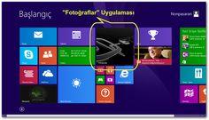 """Windows 8 ve 8.1: """"Fotoğraflar"""" Uygulaması Canlı Kutusunda Sabit Bir Resmin Görüntülenmesini Sağlamak enpedi-Windows 8"""