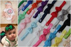 6 headbands - 10% off baby bow headbands set -  baby bow headband - baby headband - headband baby - baby - small bow headband - headband bow by cutebows4girls on Etsy https://www.etsy.com/listing/201380899/6-headbands-10-off-baby-bow-headbands