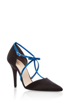 c74333f4178 Multistrap Satin D orsay Pump by PAULE KA for Preorder on Moda Operandi  Shiny Shoes