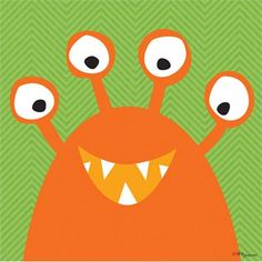 Rosenberry Rooms is offering a 10% discount on your purchase of $350 or more.  Share the news and take advantage of the savings! Monster Mugs in Orange Canvas Wall Art #rosenberryrooms