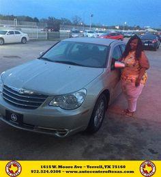 https://flic.kr/p/ExjSXA | Congratulations Tameka on your #Chrysler #Sebring Sdn from Tito Velez at Auto Center of Texas! | deliverymaxx.com/DealerReviews.aspx?DealerCode=QZQH