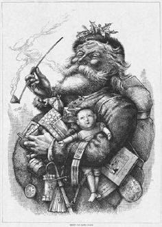 Santa Claus illustrated by Thomas Nast, 1862 my favorite image