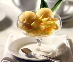 Ananas-Senf-Sorbet