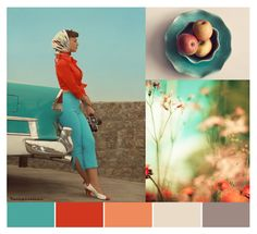 Color Palette: turquoise & red