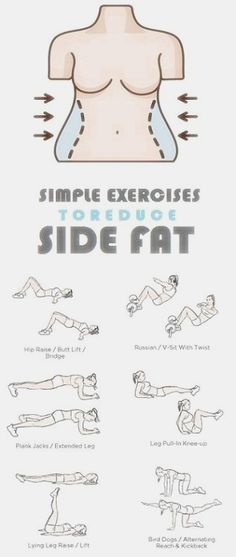 How to Get Rid of Side Fat and Love Handles Fast At Home. Try these Exercises for Side Fat Today and Lose 10 Pounds in 2 weeks. diet workout how to get Reto Fitness, Body Fitness, Fitness Diet, Fitness Motivation, Health Fitness, Shape Fitness, Sport Fitness, Fitness Weightloss, Fitness Workouts