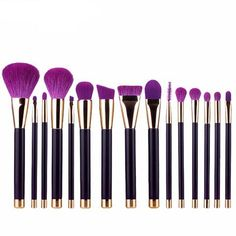 LUX15 - 15 Piece Makeup Brush Set Purple