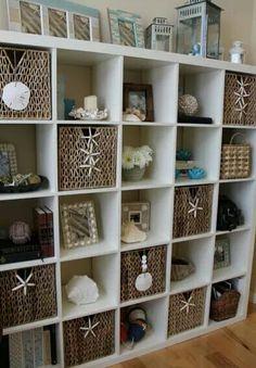Nautical bookshelves