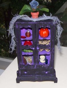 Witches StRaNgE TiMeS CaBiNet MinIature by SauvageRavenCreation, $15.00