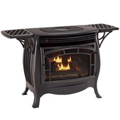 Duluth Forge Ventless Dual Fuel Gas Stove with Remote Control gives you the perfect combination of beauty and high tech heating performance. Natural Gas Stove, Propane Gas Stove, Free Gas, Infrared Heater, Camping Stove, Gas Fireplace, Fireplace Ideas, Exterior Design, Remote