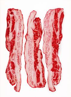 would you like some bacon with your eggs?  pen drawing © sarah esteje