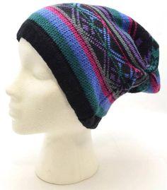 Winter Mudd Women Slouch Beanie Dark Multi Color Nordic Fair Isle Knit Hat 8156 #Mudd #BeanieHat