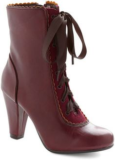 Chelsea Crew Flair-y Tale Boot in Burgundy on shopstyle.ca