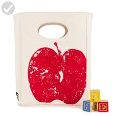Fluf Organic Cotton Lunch Bag, Red Apple - Fun stuff and gift ideas (*Amazon Partner-Link)