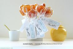 honey pops! simply melt the honey on low to med heat and spoon it onto sucker sticks (on parchment paper) and it makes honey suckers! :)