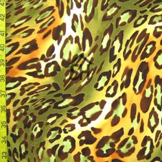 leopard pattern on a Two Way Stretch Poly. Leopard Print Fabric, Leopard Pattern, Garment District, Animal Print Rug, Number, Patterns, Style, Prints, Block Prints