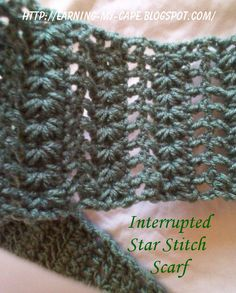 2a403358538 Earning-My-Cape  Interrupted Star Stitch Scarf-free pattern
