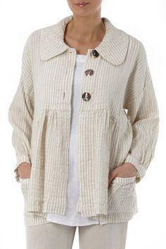 Sale | Linen Striped Jacket at Sahara