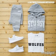 Today's top #outfitgrid is by @jaybeezishangintough. ▫️#RaisedByWolves #Joggers…
