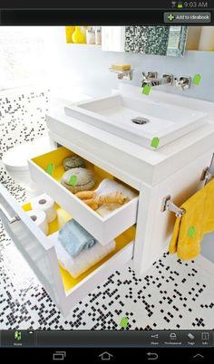 Mueble de baño blanco